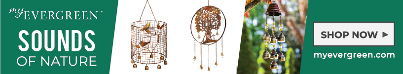 My Evergreen Wind Chimes for the Garden
