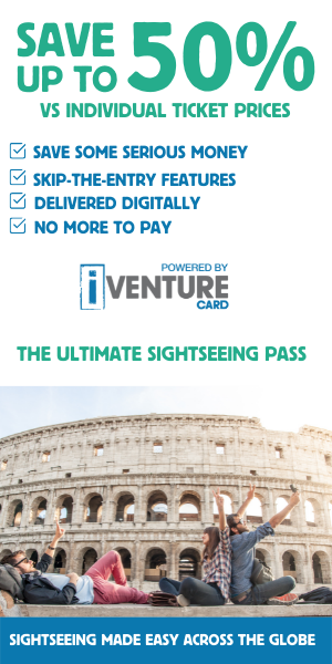 Save up to 50% on attractions with iVenture Card