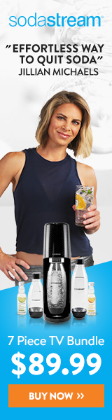 SodaStream 7 piece sparkling water maker bundle, only $89.99.  PLUS free shipping on orders over $50