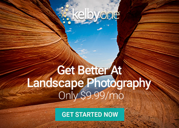 KelbyOne. Get better at landscape photography.