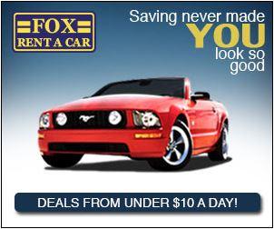 Fox Rent a Car - 30% Off