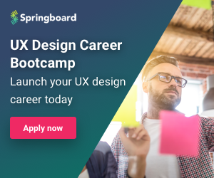 Square ad showcasing the UX Career Track at Springboard