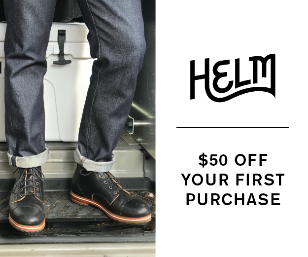 HELM Boots- $50 Off Your First Purchase
