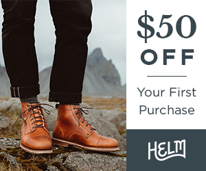 HELM Boots - $50 Off Your First Purchase