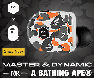Master & Dynamic for BAPE® Inspired by the brand's signature print, this exclusive capsule perfectly blends the unconventional spirit of the Japanese brand with sophisticated technology and beautiful craftsmanship.