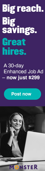 Monster Monthly Value Plans help you find qualified candidates who fit your jobs, company, and culture…quickly and easily. Get $50 off a Standard Monthly Value Plan.