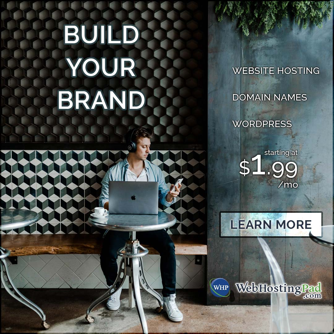 Build your own website for $1.99/month with WebHostingPad.