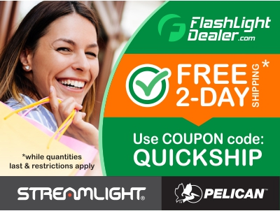 FREE 2 day shipping on select Pelican™ and Streamlight® Flashlights products from Flashlightdealer.com! A $25 value!