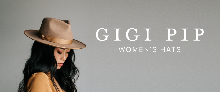This best-selling women's rancher hat has a brim and crown trimmed with tonal grosgrain ribbon and a slightly curled up brim.