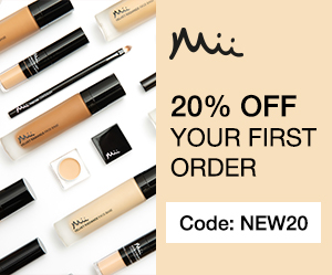 mii Cosmetics 20% off first order