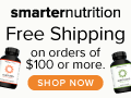 Smarter Nutrition Supplements- Free Shipping on $100 or more