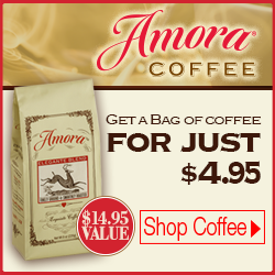 Get a Free bag of Amora Coffee, Pay Just $5.95 Shipping.  No Commitment.  Not a Subscription