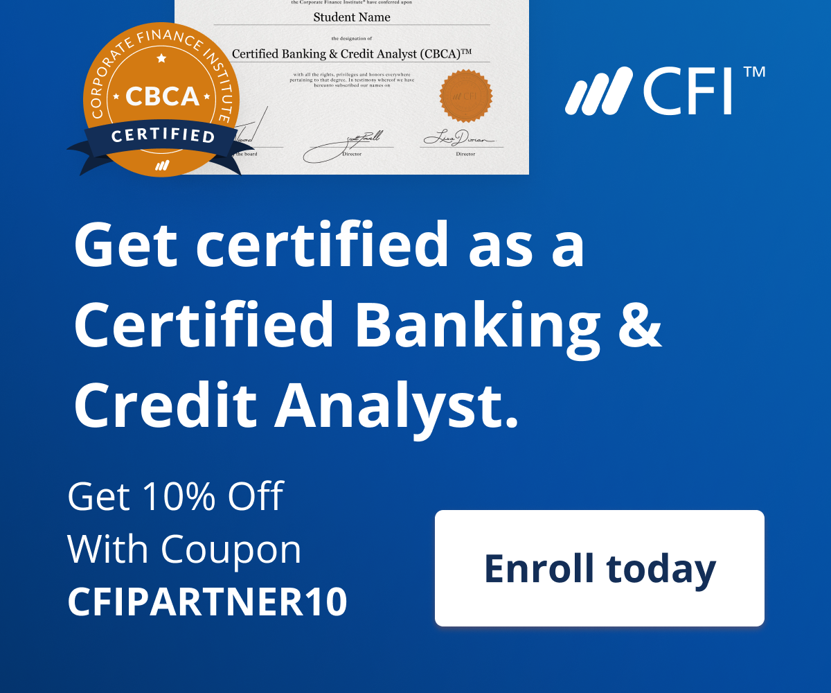 CFI Banners with discount. Get 10% off with coupon code CFIPARTNER10.