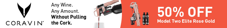 Get 50% Off at Coravin! Get a Coravin Model Two Elite Rose Gold for 50% Off! Limited Time Offer!