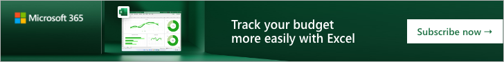 Microsoft UK IE - Micrsoft 365 Excel - Experience easier budgeting in just a few clicks