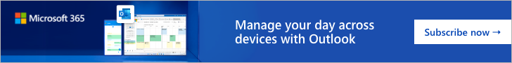 Microsoft UK IE  - Microsoft 365 Outlook - Experiance an ad-free inbox