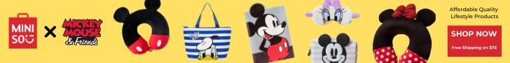 Feature our popular Mickey Mouse & Friends x MINISO collaboration.