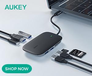 AUKEY Unity Link 7-in-1 USB-C PD II 100W Hub (Black) SKU: CB-C68