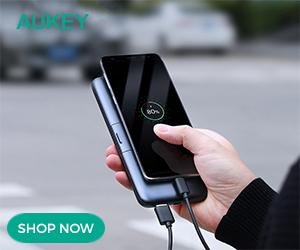 AUKEY 10000mAh Wireless Charging PowerBank (Black)