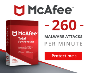 McAfee US Back to School Campaign Banners. Safer learning starts with back-to-school savings. [RJOVenturesInc.com]