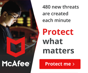 McAfee US. 480 new Cybersecurity threats are created each minute. Protect what matters. [RJOVenturesInc.com]